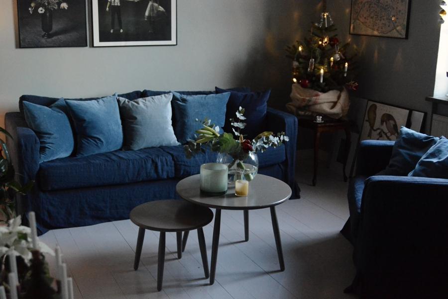 Vardagsrummet i jul